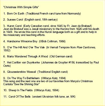 Christmas With Simple Gifts 1
